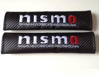 Carbon Fiber Nissan nismo Seat Belt Cover Pad Skyline R32 r33 R34 R35 350Z 370Z