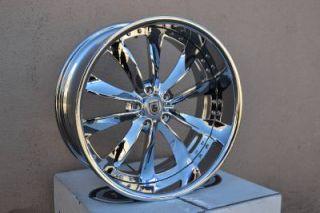 "22"" asanti AF505 Chrome Wheels Rims BMW 7 Series 745 750 Brand New Forgiato"