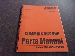 Champion 720A 726A VHP Motor Grader Cummins 6ct Engine Parts Book Catalog Manual