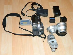 Panasonic PV GS 300 Mini DV Camcorder with DC Light and 2 HD Lenses