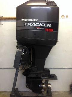 1998 Mercury 115 HP 2 Stroke Outboard Motor Boat Engine 90 Water Ready Rebuilt