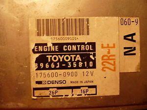1993 Toyota Pickup 22RE 2 4L ECU ECM Engine Computer 89661 35810