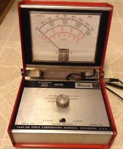 Vintage Snap on MT417 Secondary Tach Dwell Meter