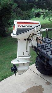 Johnson 15 HP Outboard Motor Boat Engine 10 15 20 25 Manual Start