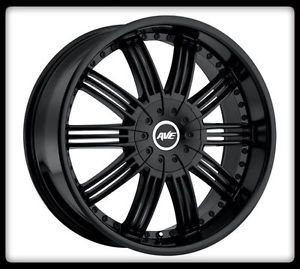 "22"" Avenue A603 Black Wheels Rims 305 45 22 Nitto Terra Grappler Tires"