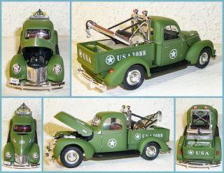 Golden Wheels Diecast Truck Series 1 32 1940 Ford WW2 Tow Truck