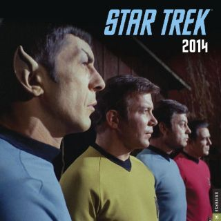 Star Trek The Original Classic TV Series Stardate 2014 Wall Calendar New SEALED