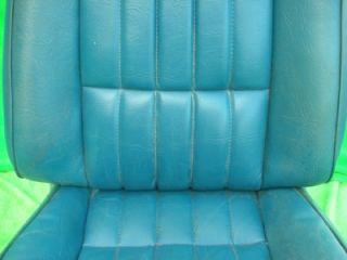1971 1972 Camaro GM Standard Blue Front Bucket Seat