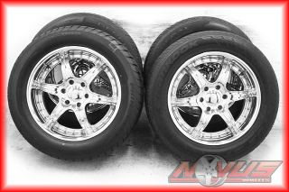 "20"" Aftermarket Liquid Metal Escalade Chevy Tahoe GMC Yukon Denali Wheels Tires"
