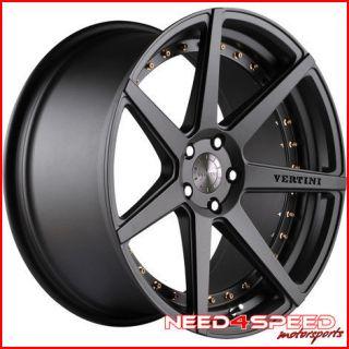 "20"" Vertini Dynasty Gunmetal Concave Wheels Rims Fits Audi D3 A8"