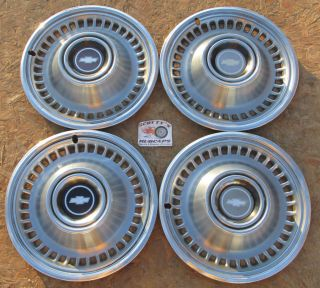 """1971 1972 Chevy Monte Carlo Impala 15"""" Wheel Covers Hubcaps Set of 4 Look"""