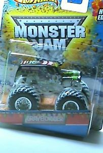 HOT WHEELS MONSTER JAM GRAVE DIGGER HOLIDAY EDITION SNOW ON TIRES SUPER RARE HTF