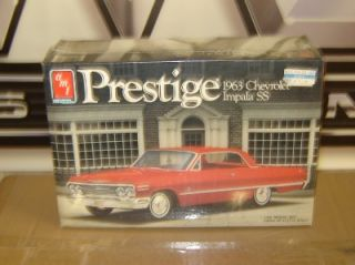 AMT Ertl Plastic Model Kit 6834 Prestige 1963 Chevy Impala 2dr Hardtop 1 25