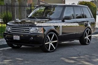 "22"" Lexani R Six BM for Land Range Rover Wheels and Tires Rims HSE Sports"
