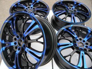 17 Blue Wheels Rim Acura TSX RSX Chrysler Cirrus PT Cruiser Toyota Corolla Camry