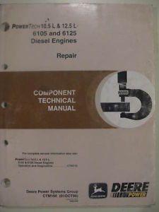 John Deere 9200 9300 9400 Tractor 744H Loader Engine Technical Repair Manual