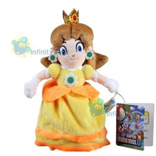 "New Super Mario Bros 8"" Princess Daisy Plush Figure Doll Toy Nintendo Game"