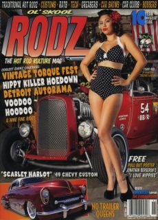 OL' Skool Rodz 60 Magazine Hot Rod Rat Custom Pin Up Gasser Bobber Rockabilly