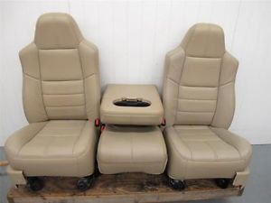99 10 Ford Truck F250 F350 Power Leather Bucket Seats