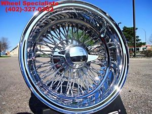 "13"" inch Chrome Wire Wheels New Set 4 Dayton Style 72 Spoke Rims Lowrider Wheel"