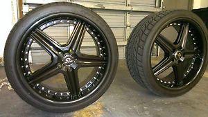 Lorenzo WL19 Black Wheel Rims and Nitto Tires 20 inch 5x4 5 114 3 Set