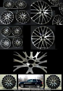 "22"" MRR HR6 Wheels for Porsche Cayenne GTS Touareg Audi Q7 Rims Caps 22 x 10 """