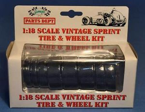 GMP Vintage 1 18 Scale Sprint Car 8 Tires and Wheels Accessory Pack Mint
