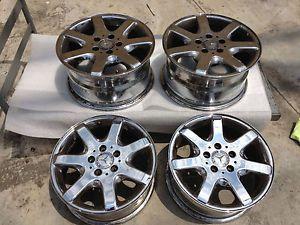 "Used Mercedes Benz Wheels 1998 SLK 230 16"" Chrome Rims 16x7 16x8"
