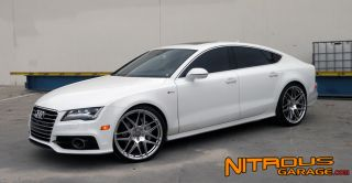 """22"""" Ace Mesh 7 Wheels Silver Audi A7 S7 Mesh 7 Staggered Set 20 21 Concave"""