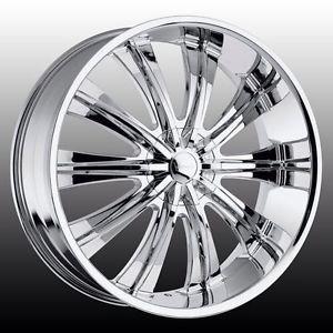 22 inch Rims Wheels and Tires Chrome Tahoe Escalade Yukon Denali Chevy GMC