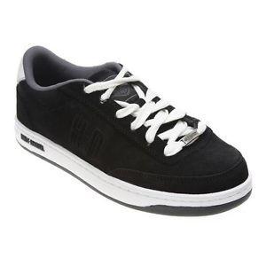 Harley Davidson Static Mens Black Suede Steel Toe Skate Sneakers Shoes D93027