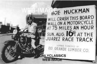 1930's Harley Davidson VL Motorcycle Daredevil Photo