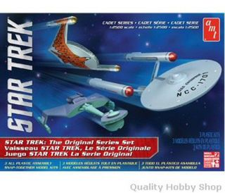 Star Trek Cadet Series TOS Era 2 SHIP Set 1 2500 Scale Skill 2 AMT Model Kit 763