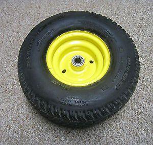 John Deere STX38 Garden Lawn Tractor Black Deck Front Tire Rim Wheel Dico