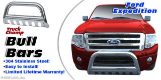 """Bull Bar 3"""" Stainless Push Grill Guard 97 03 Ford F150 97 03 Exped 4WD 99 02 2WD"""