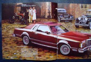 Ford Thunderbird Car Sales Brochure ' Heritage' Model 1979 Large Format