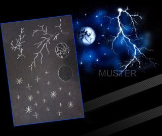Step by Step Airbrush Stencil as 027 Stencils UMR Design