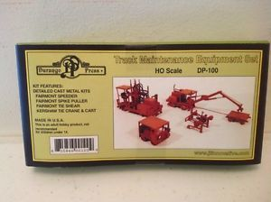 Durango Press HO Scale Kit Track Maintenance Equipment Set of 4 Benefits Charity