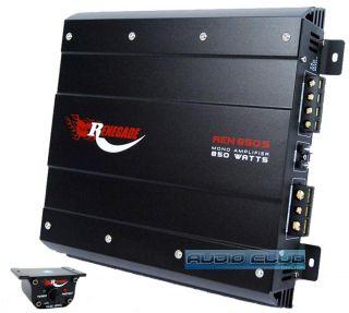 Rockford Fosgate REN850S 850W Max Mono Block Car Stereo MOSFET Power Amplifier