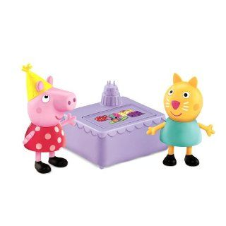 New Fisher Price Peppa Pig 2 Pack Figures Peppa Candy Cat Birthday Party