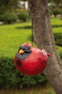 Portlys Chubby Cardinal Bird Outdoor Hanging Birdhouse 2BH079 Bird House