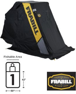 Frabill Recon Dlx Portable Ice Fish House Shelter 6112