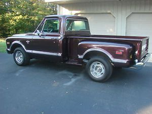 68 Chevy Custom Sport Truck Short Bed Stepside Only 16 000 Miles Since Resto