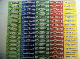 Wrigley's Gum Doublemint Juicy Fruit Big Red Winterfresh Spearmint 75 Packs