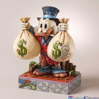 Jim Shore Disney Uncle Scrooge McDuck Money Bags 4027137