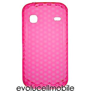 For Samsung Galaxy Gio S5660 Flexible Pink Gel Cell Phone Cover Case Protector