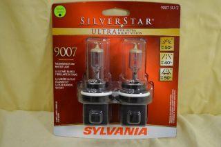 Sylvania Silverstar Ultra 9007 Su 2 Car Headlight Bulbs New B