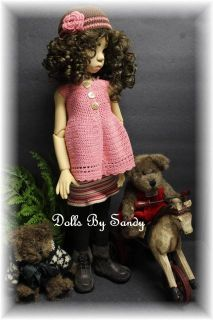 "Original Handmade Outfit for 18"" Kaye Wiggs Lasher Fiona or Other MSD BJD Doll"