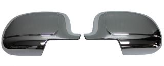 New Putco Chrome Side Mirror Covers Fits Cadillac Chevrolet GMC Trucks
