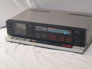 Vintage RARE Aiwa Stereo Cassette Deck F990 Ad F990U Works w Free Cassettes
